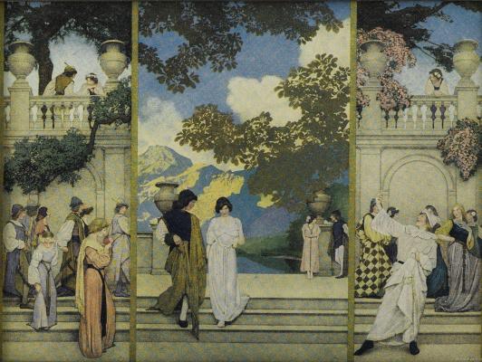 Maxfield Parrish. Florentine triptych