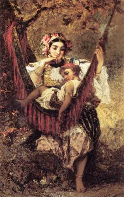 Нарсис Виржилио Диаз де ла Пёнья. Мать и дитя