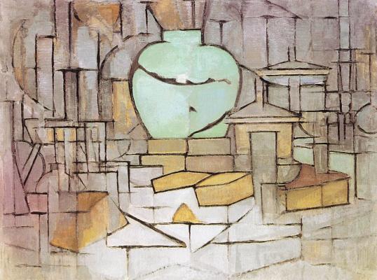 Piet Mondrian. Still life with ginger pot 2