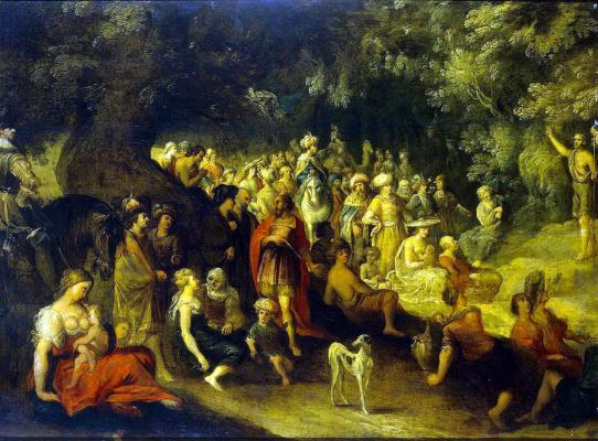 Ханс III Момпер Иос де Йорданс. Проповедь Иоанна Крестителя
