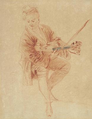 Antoine Watteau. A portrait of Nicolas Vleughels