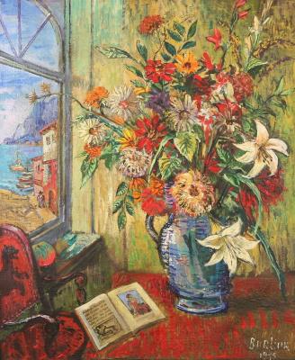 Давид Давидович Бурлюк. Цветы у моря