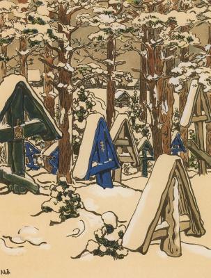 Мария Васильевна Якунчикова-Вебер. Кладбище зимой