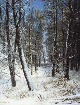 Иван Иванович Шишкин. Зима в лесу (Иней)