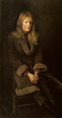"Andrew Wyeth. Sheepskin (from the series ""Helga"")"
