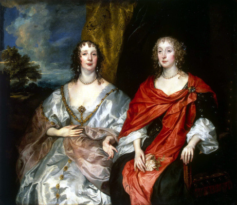 Anthony van Dyck. Portrait of two ladies-in-waiting of Queen Henrietta-Mary - Anne Killigrew, Mrs. Kirke, and Charlotte, lady Strange