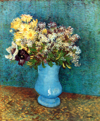 Vincent van Gogh. Vase with daisies and anemones