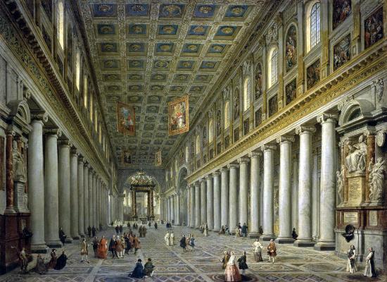 Giovanni Paolo Pannini. Interior view of the Church Santa Maria Maggiore in Rome