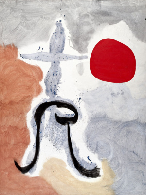 Joan (Joan) Miro. Woman in front of the sun