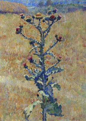 Ilya Ivanovich Mashkov. Steppe. Agrimony