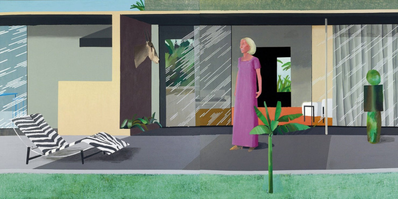 David Hockney. Housewife of Beverly hills