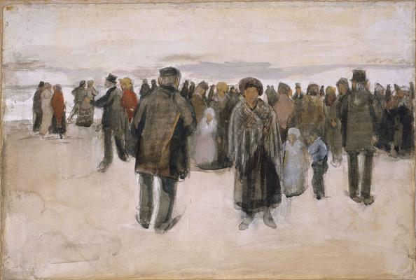 Винсент Ван Гог. Пляж в Схевенингене