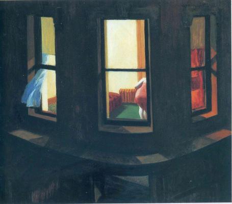 Edward Hopper. Night window