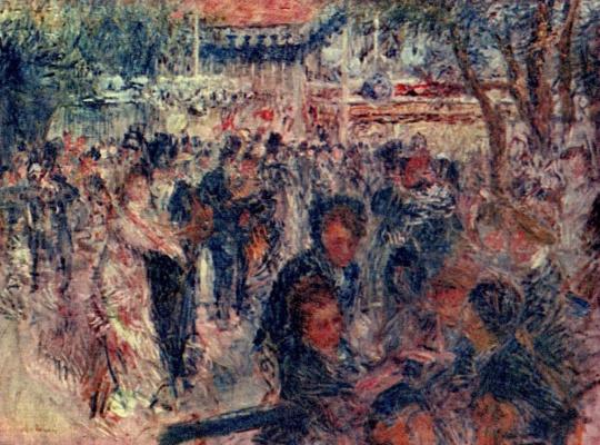 Pierre-Auguste Renoir. Moulin de La Galette, sketch