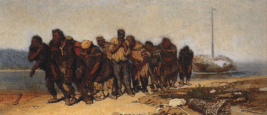 Ilya Efimovich Repin. Volga boatmen 2.