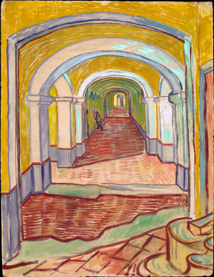 Vincent van Gogh. Corridor in hospital