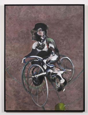 Francis Bacon. Portrait of George Dyer on a bike