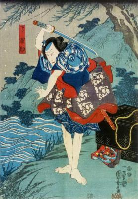 Utagawa Kuniyoshi. Gonsuke