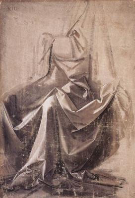 Леонардо да Винчи. Драпировки сидящей фигуры