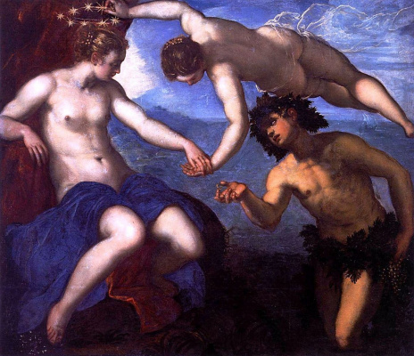 Jacopo (Robusti) Tintoretto. Bacchus, Venus and Ariadne