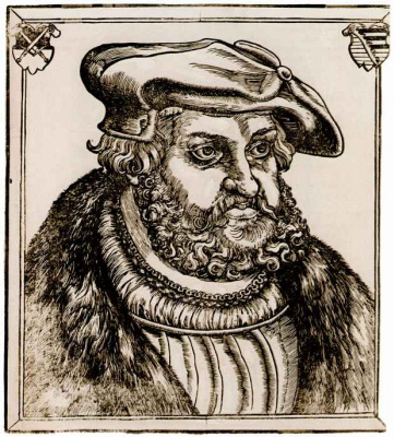 Lucas Cranach the Elder. Portrait of Frederick the Wise, elector of Saxony