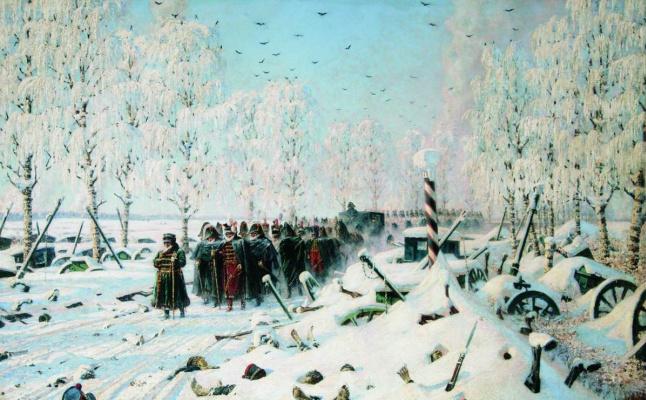 """Vasily Vasilyevich Vereshchagin. """"On the road. Retreat, flight..."""""""