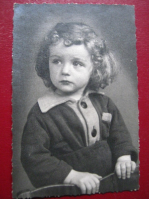 """Pensive"". Photocopy of the portrait of the mid-twentieth century."