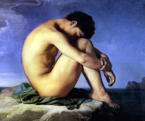 Ippolit Flandren. The young man near the sea