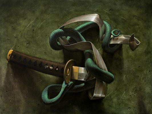 Kos1604. Snake and sword
