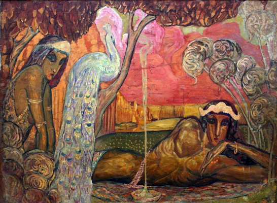Всеволод Николаевич Максимович. Peacock. Decorative panel