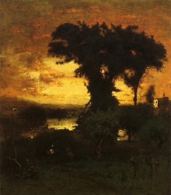 George Innes. Afterglow