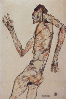 Egon Schiele. Dancer