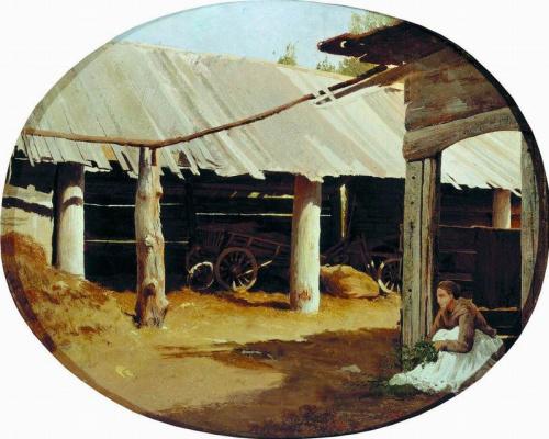 Fedor Alexandrovich Vasilyev. Village courtyard