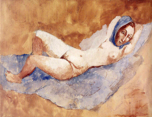 Pablo Picasso. Reclining Nude (fernande)