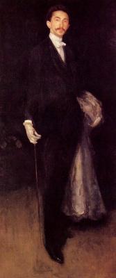 James Abbot McNeill Whistler. Composition in black and gold: a Portrait of Robert de Montesquiou-Fezensac