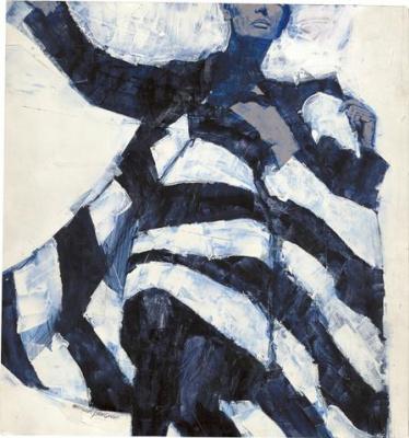 Michael Johnson. Black and White Dress