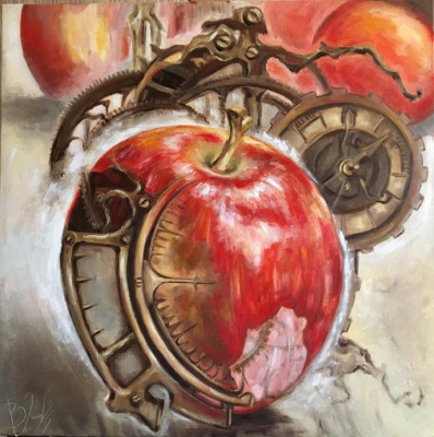 "Natalia Vasilyevna Butenko (Sky pearl). ""Time"" oil painting, oil painting, handicraft,"