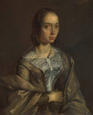 Jean-François Millet. Portrait of Madame Eugene Felix Lekurtua