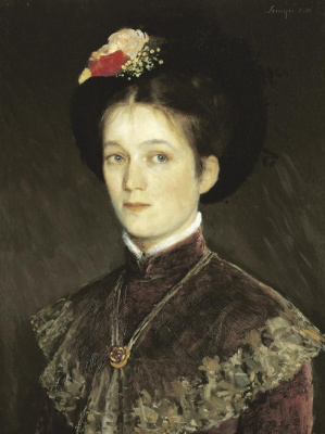 Pál Szinyei Merse. Portrait of the artist's wife