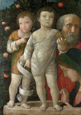 Андреа Мантенья. Святое семейство со святой Иоанн