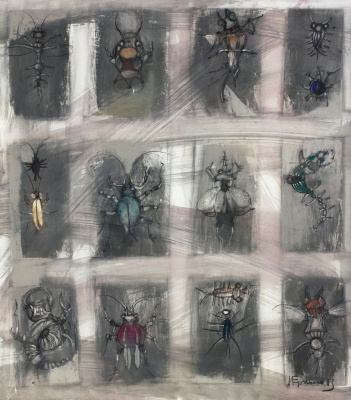 Igor Nikolaevich Ermolaev. Bagel beetles (left side)
