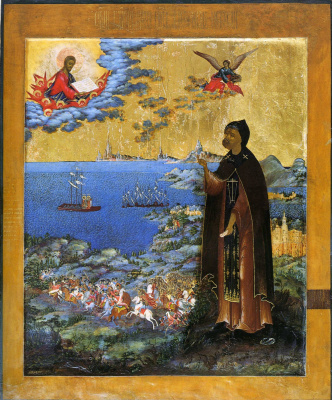 Icon Painting. Alexander Nevsky, with scenes from his life (Nevyansk, Ivan Vasilyevich Bogatyrev)