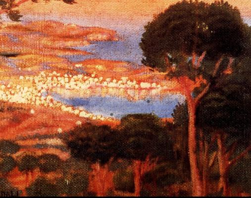 Salvador Dali. View of cadaqués from mount Pani