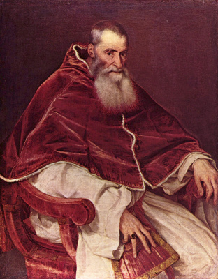 Тициан Вечеллио. Портрет Павла III