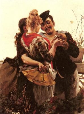 Эгисто Ланцеротто. Любовь