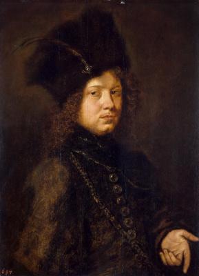Христофер Паудисс. Портрет молодого человека в меховой шапке