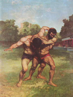 Gustave Courbet. Wrestlers
