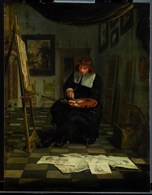Mihil van Müsser. The artist in his Studio