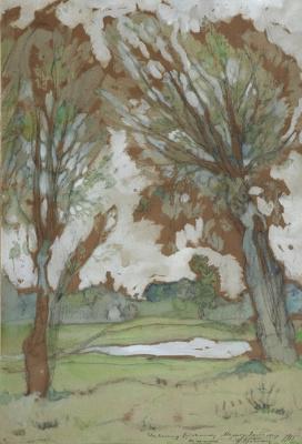 Исаак Израилевич Бродский. Spring landscape