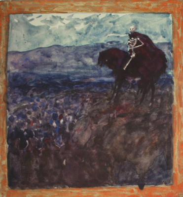 Николай Иванович Шестопалов. Скелет на коне. Конец 1890-х
